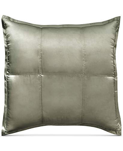 DK Donna Karan Home Silk Collection Moss Silk Quilted European/Euro Sham