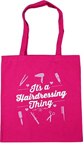 Tote It's hairdressing Gym Beach Shopping litres 42cm 10 x38cm Fuchsia Bag thing a HippoWarehouse wfpdxxI