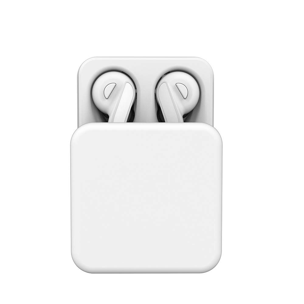 Sonmer H-88 Mini Twins Wireless Bluetooth 5.0 Stereo HiFi Noise Reduction Earbuds,With Charging Dock (White)