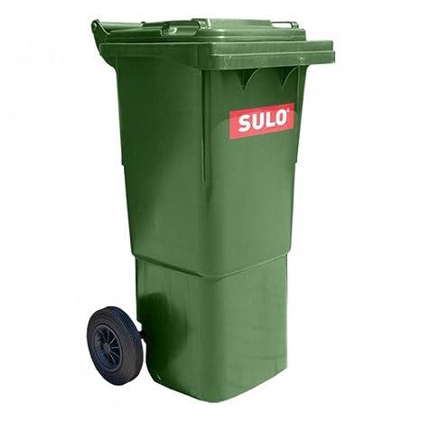 Cubo de basura 2 ruedas, contenedor a basura SULO 60 L, verde (22264