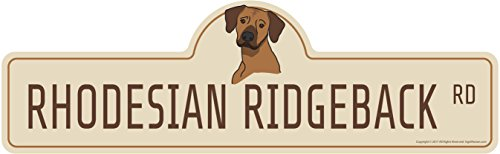 Rhodesian Ridgeback Kennel - SignMission Rhodesian Ridgeback Street Sign | Indoor/Outdoor | Dog Lover Funny Home Décor for Garages, Living Rooms, Bedroom, Offices Personalized Gift | 36