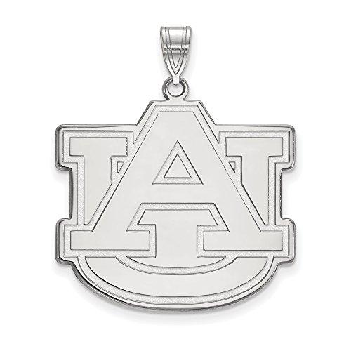 Auburn Extra Large (1 Inch) Pendant (14k White Gold) by LogoArt