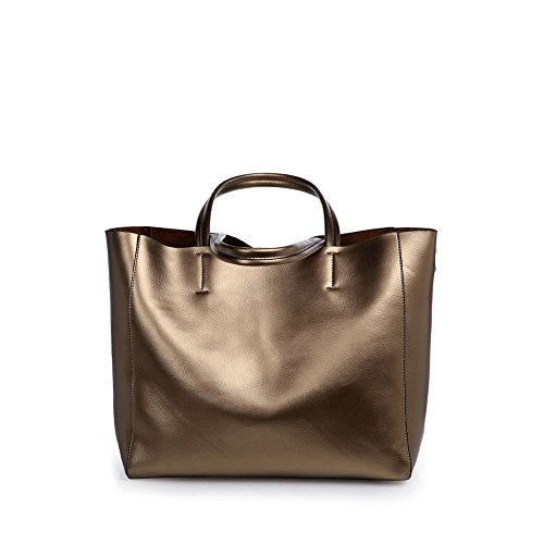 Metallic Suede Handbag - 7
