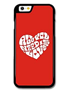 All You Need Is Love John Lennon The Beatles Quote In A Heart case for iPhone 6