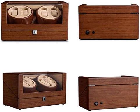 SHYPT 4回転モードの設定で2個の自動時計、ピアノペイント、用ウォッチワインダー、メンズとレディースの腕時計のための調節可能なウォッチ枕