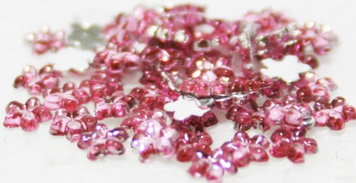 (Zink Color Nail Art Acrylic Rhinestone Deep Pink Flower 100 Piece)