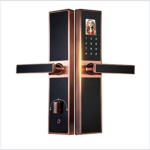 Biometric Face Recognition Door Lock Palmprint Recognition Bluetooth Locks Smart Electronic Locks Home Entry for Aluminium Door and Wooden Door