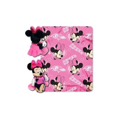 (The Northwest Company Officially Licensed NFL Baltimore Ravens Co Disney's Minnie Hugger and Fleece Throw Blanket)
