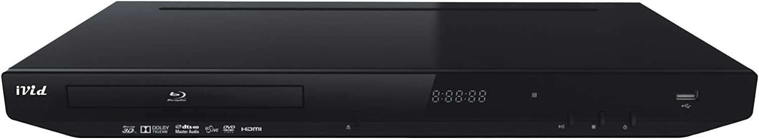 iVid BD780 Multi Region Free 3D Blu Ray DVD Player PAL/NTSC 110-240 Volt w/ Free HDMI Cable