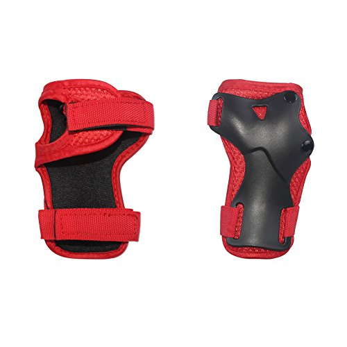 LANOVAGEAR Kids Adjustable Protective Gear Set Knee Elbow Pads Wrist Guards for Skateboard Bicycle Sports Safety (Red, Small) by LANOVAGEAR (Image #4)