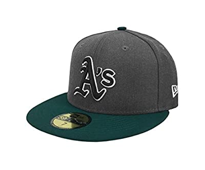 New Era 59Fifty Hat MLB Oakland Athletics Shader Melt 2 Charcoal/Dark Green Cap