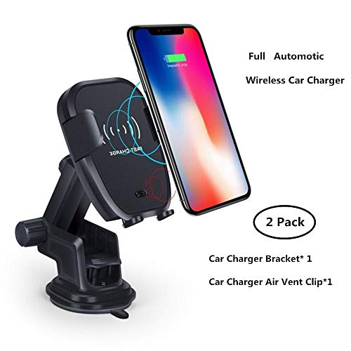 Wireless Car Charger Qi Fast Charging Car Mount with Air Vent & Bracket Dashboard Holder Suitable for iPhone Samsung All Qi Enabled. by Be-one (Image #7)