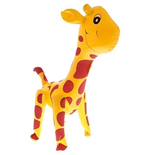DDOQ Jirafa inflable para fiestas, color amarillo con ...