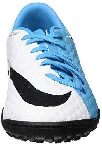 Nike Hypervenomx Phelon Iii Tf Menns Fotballsko 852562 Fotball Cleats Hvit Svart Bilde Blå 104