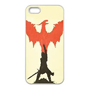 iPhone 5 5s Cell Phone Case White dragon age art illust minimal Pkibi