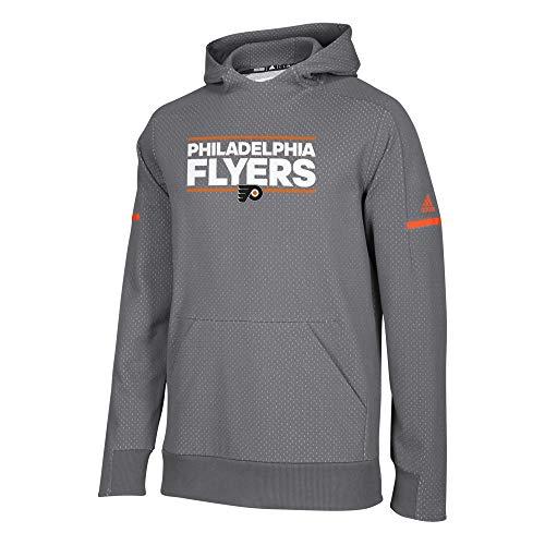 adidas Authentic NHL Squad Pullover Hoody (Large, Philadelphia Flyers)