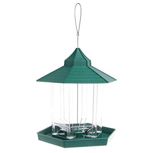 Bettal Waterproof Gazebo Plastic Hanging Wild Bird Feeder Outdoor Feeding for Garden Decoration Review