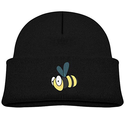 Kids Knitted Beanies Hat Bumble Bee Winter Hat Knitted Skull Cap for Boys Girls Black (Cap Bee Toddler Bumble)