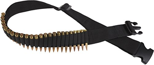 Bulldog Cases Adjustable Rifle Ammo Belt (Holds 24 Cartridges) Adjustable Cartridge Belt