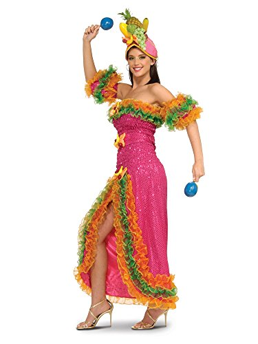 Deluxe Carmen Miranda Adult Costume - (Carmen Miranda Fancy Dress Costume)