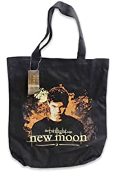 Twilight Saga New Moon Tote Bag-JACOB Canvas Black Handbag