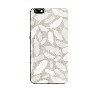 Cover It Up - Feather Grey Print Honor 4X Hard Case