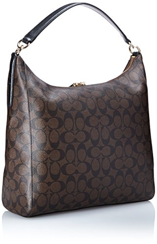 Coach Signature Celeste Convertible Hobo - Brown/Black: Handbags ...