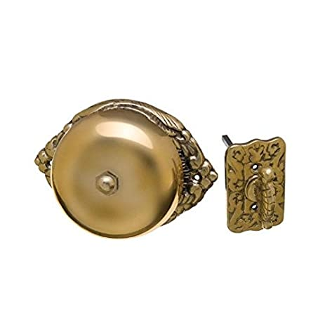 Exceptionnel Victorian Syle Mechanical Twist Door Bell Antique Reproduction Ornate Solid  Brass Doorbell