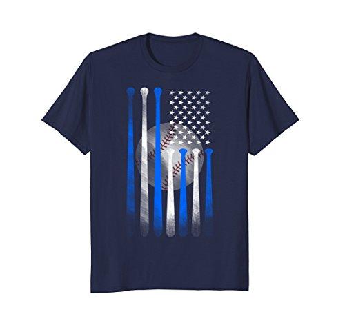 Mens American Flag Vintage Baseball Flag T-Shirt, Dad, Mom, Kid T 3XL Navy (T-shirt Designs Softball)