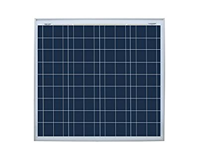 50 Watt 12 Volt Solar Panel With 20 Inch Wires And Mc4 Connectors