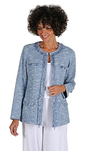 Donna Cappotto 386 blau Naulover T Blau q05q4