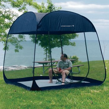 & New SportCraft 8 ft Pop Up Screen Room With Floor Canopy Tent Shelter