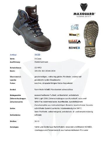 Maxgard X420 Sicherheitsstiefel S3 HRO waterproof Gr. 38-48