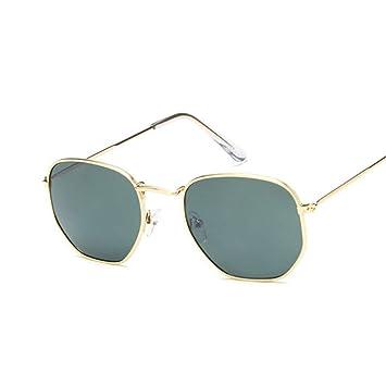MOJINGYAN Gafas De Sol,Vintage Gold Plaza Deepgreen Gafas De ...
