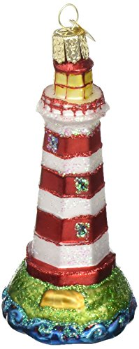 Old World Christmas Ornaments: Sambro Lighthouse Glass Blown Ornaments for Christmas Tree