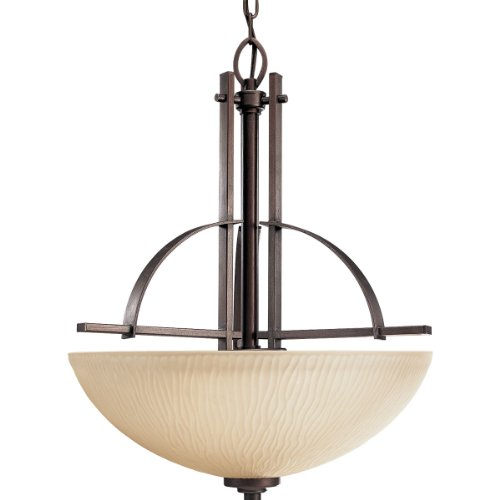 [Progress Lighting P3519-88 3-Light Riverside Foyer Fixture, Heirloom] (Bronze Single Light Foyer Fixture)