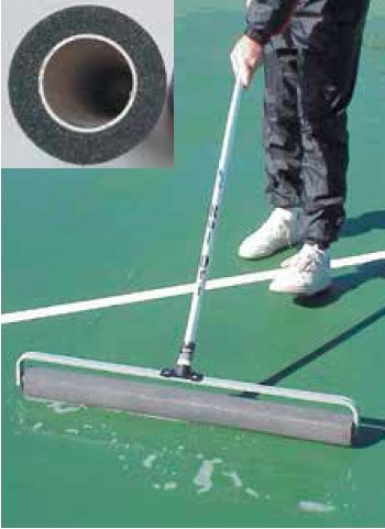 Bocce/Tennis Court Water Removal Seamless Rol-Dri (143-243) by Lee
