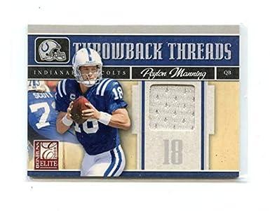 ad98d2ebf 2008 Donruss Elite Throwback Threads Jerseys #22 Peyton Manning Colts /199