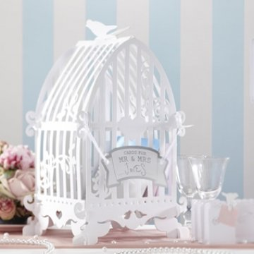 Ginger Ray Vintage Birdcage Wedding Card Post Box for Weddings and Parties (Card Bird Wedding Box Cage)