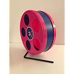 "SMALL ANIMAL EXERCISE 8"" WODENT WHEEL -DK. BLUE WITH PINK"