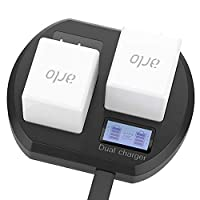 Charging Stations for Arlo Rechargeable Batteries, Fast Dual Battery Charging Station for Arlo Pro & Arlo Pro 2 & Arlo Go & Arlo Security Light Batteries