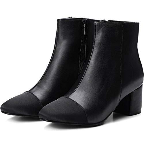 Stivali Stivali Corti Invernali Blocco Tacco Tacco A TAOFFEN Nero Autunno Boots Donne Scarpe xf0Y8fA