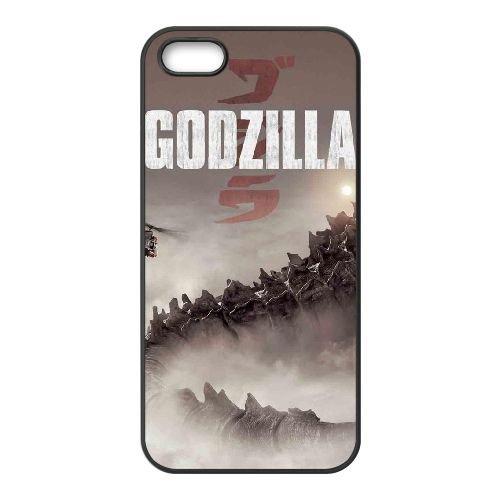 Godzilla 5 coque iPhone 4 4S cellulaire cas coque de téléphone cas téléphone cellulaire noir couvercle EEEXLKNBC25441