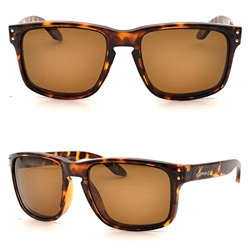 BNUS Italy made Classic Sunglasses Corning Real Glass Lens w. Polarized Option (Frame: Tortoise / Lens: Brown B15, - Glass Lens Polarized Sunglasses