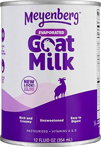 Meyenberg Evaporated Goat Milk, Vitamin D, 12 Ounce (Pack of ()