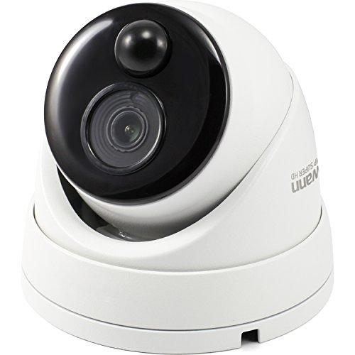 Swann SWPRO-5MPMSD-US PRO-5MPMSD(TM) 5.0-Megapixel PIR Add-on Dome Camera, 5MP DVR Dome Camera