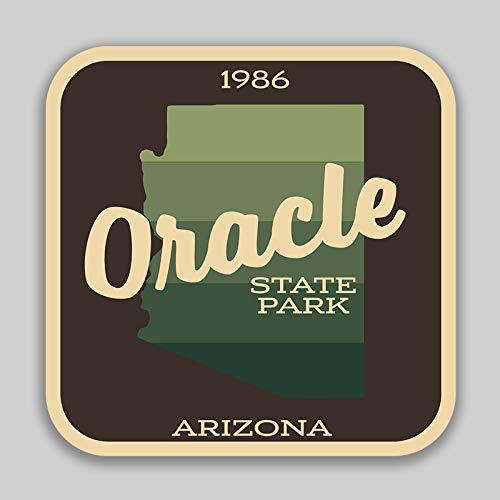 JMM Industries Oracle State Park Arizona Vinyl Decal Sticker Car Window Bumper 2-Pack 4-Inches by 4-Inches Premium Quality UV Protective Laminate SPS588