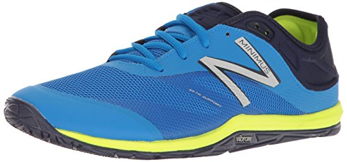 New Balance Men's MX20V6 Minimus Cross Trainer, Electric Blue/Dark Denim/Hi Lite, 7.5 2E US