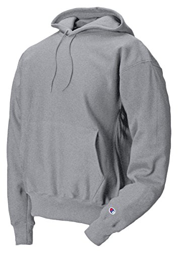 Fleece Hooded Oxfords - Champion Adult Reverse Weave Hooded Pullover Fleece, Oxford Grey (78/22), Small
