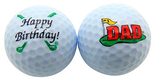 Happy Birthday Golf - Westman Works Happy Birthday Dad Golf Ball Set of 2 Golfer Gift Pack